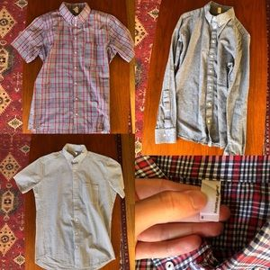 X3 American Apparel button down colored shirts